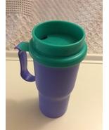 Tupperware Insulated Hot/Cold Travel Coffe Mug Blue/Green - $34.95
