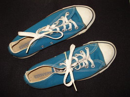 Vintage Converse All Star Chuck Taylor Lo Top Blue Sneakers Made in US SZ 6 Mens - $60.00