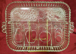 "Vintage Indiana Glass ""Fruits-Clear"" 5-part Relish Tray (circa 1960-1970s) - $13.50"