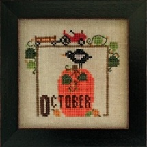 October Joyful Journal chart series cross stitch chart Heart In Hand  - $5.00