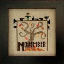 November Joyful Journal chart series cross stitch chart Heart In Hand  - $5.00