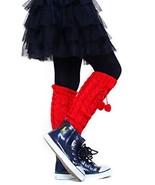 Fashion Mic Kids Fun and Cute Legwarmers - Pom Poms (Kids One Size, red) - $9.89