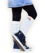 Fashion Mic Kids Fun and Cute Legwarmers - Flower (kids one size, white) - $9.89