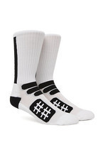 MEN'S GUYS BEEN TRILL PERFORMANCE CREW WHITE/BLACK SOCKS  CREW  NEW $16 - $12.99