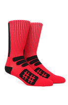 MEN'S GUYS BEEN TRILL PERFORMANCE CREW RED/BLACK SOCKS  CREW  NEW $16 - $12.99