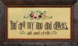 My One And Always wedding birthday cross stitch chart Heart In Hand  - $11.70