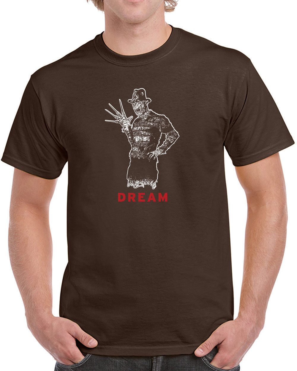 248 Dream mens T-shirt freddy nightmare horror scary movie 80s elm street retro
