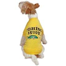 Zack & Zoey Poly/Cotton Fishing Buddy Dog Tee, Medium, Yellow - $19.95