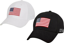 US Flag Low Profile Cap USA Pride Support Hat US Games Adjustable Hat He... - $10.99