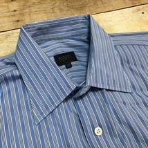 Robert Talbott Carmel Blue White Striped Men's 16 1/2 35 Cotton Dress Shirt - €17,42 EUR