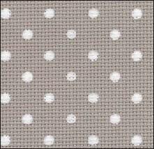 Creek White Dots Petit Point 20ct Aida 36x43 cross stitch fabric Zweigart - $36.00