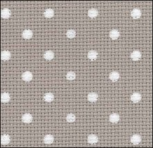 Creek White Dots Petit Point 20ct Aida 18x22 cross stitch fabric Zweigart - $9.00