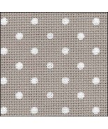 Creek White Dots Petit Point 20ct Aida 11x18 cross stitch fabric Zweigart - $5.00