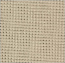 Sand 20ct Aida 18x22 cross stitch fabric Zweigart - $8.55