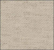 Oatmeal Rustico 20ct Aida 36x22 cross stitch fabric Zweigart - $17.10