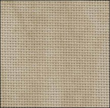Country Mocha 20ct Aida 18x22 cross stitch fabric Zweigart - $8.55