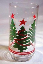 Libbey Glass 1970 Christmas Tree  Footed Glass  Tumbler 12 oz. - $6.29