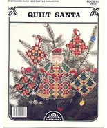 Quilt Santa Tree Topper~Cross Stitch - $4.00