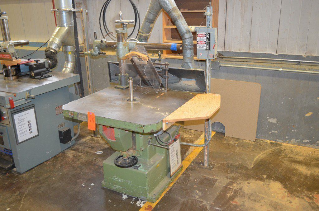 Bulleri Model F35 single spindle vertical shaper wood ...