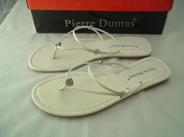 """Woman Silver Sandals w/Delicate Straps by Pierre Dumas """"Amethyst""""  NEW Free Ship - $15.99"""