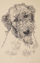 Irish Wolfhound Dog Art Print Lithograph #42 Kline draw your dogs name f... - $49.95