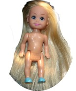 Barbie little sister Kelly doll friend with moulded shoes extra long hair - $7.99