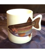 Rainbow Trout Fish Fishtail Handle Mug Cup Fathers Day 1990 - $29.21