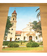 Vintage Roman Catholic Cathedral St Augustine Florida Postcard - $9.99