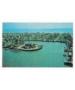 Stone Harbor NJ Aerial View Yacht Club Atlantic Ocean Vintage Postcard - $4.99