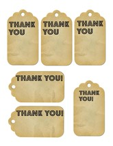 6 Thank You Tags35-Download-ClipArt-ArtClip-Digital Tags-Digital - $2.00
