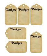 6 Thank You Tags36-Download-ClipArt-ArtClip-Digital Tags-Digital - $2.00