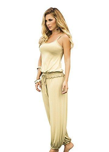 AM:PM By Espiral Women's Fashion Spaghetti Strap Loose Casual Jumpsuit, Mocha... - $51.95