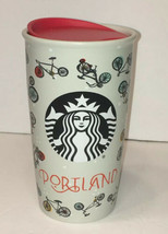 Starbucks 2016 Bike Bicycle Raindrops Portland Travel Tumbler 12 oz EUC - $23.74