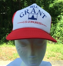 Vintage 80s Bill Grant US Congress Florida Election Hat Cap Snapback Red... - $18.66