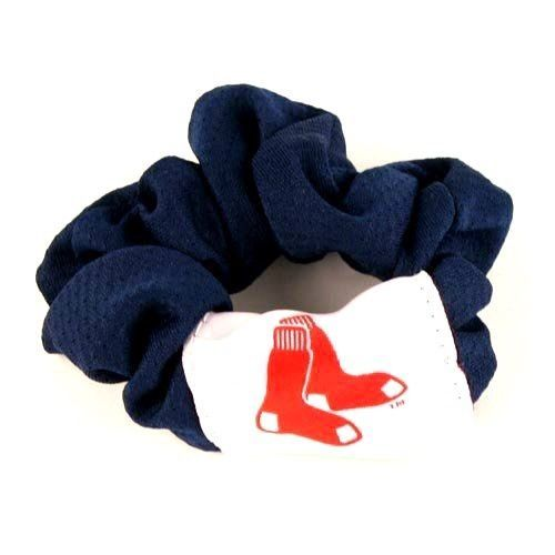 BOSTON RED SOX SCRUNCHIE HAIR TWIST PONY TAIL HOLDER TEAM MLB BASEBALL
