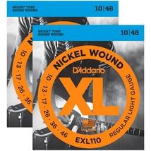 d 39 addario exl110 nickel wound light electric guitar strings 2 sets electric. Black Bedroom Furniture Sets. Home Design Ideas