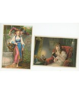 2 Victorian trade cards Jayne's Tonic patent medicine Towne Marlow New H... - $14.00