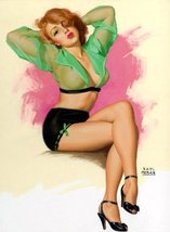 Pin-Up Girl Poster Wall Decal Sticker - A Striking Pose by Earl Moran - ... - ₹618.27 INR