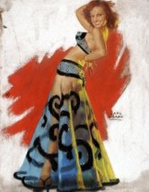 Pin-Up Girl Poster Wall Decal Sticker - Belly Dancer by Earl Moran - 18 in. - $21.99