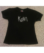 Junior's KoRn logo fitted 100% cotton embellished T-shirt, size OSFA - $32.58