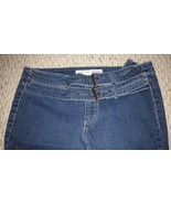 Junior's stretch jeans with two built-in buckle belts, size 11 by Youniq... - $16.68