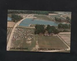Vintage Postcard Lake Juno Park Liberty NC Aerial Air View Unused - $6.49