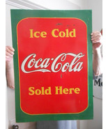 Vintage Sign Coca-Cola Metal Embossed 28x20