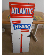 Vintage Sign Atlantic Hi-Arc Porcelain Gasoline... - $558.85