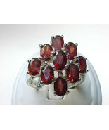 GARNET Vintage Ring set in Sterling Silver - Size 9 - GORGEOUS RING - €92,57 EUR
