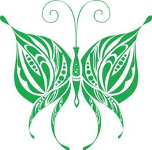 Butterfly Insect Wall Decal Sticker Mural - 12 in. Kelley Green [Kitchen] - €6,11 EUR