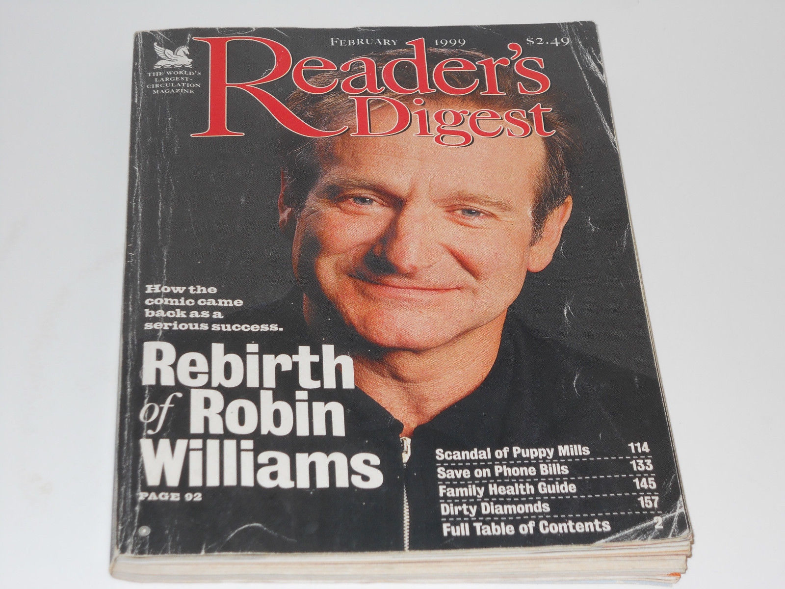 Reader's Digest February 1999 Robin Williams And 50