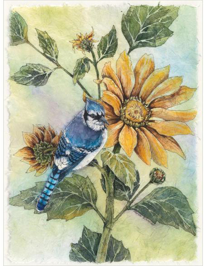 Primary image for Sunflower Blue Jay Cross Stitch Pattern***LOOK***