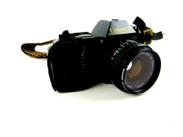 Canon T50 Camera With Strap And Canon Lens FD 50mm Tested - $98.99
