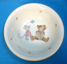 Mikasa China Soup Salad Cereal Bowl #CC018 Teddy Bear & Mouse Design White - $24.99